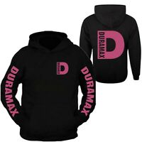 Duramax Pink Big D Design Color Black Hoodie Hooded Sweatshirt