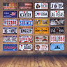 Metal License Plate American Vintage Home Decor USA Car Wall Art Number Poster
