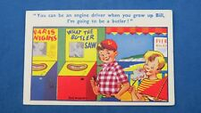 Vintage Comic Postcard 1950s Pier Penny Arcade WHAT THE BUTLER SAW Machine
