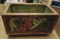 Vintage Brayton Laguna Pottery Cute MCM Fruit Motif Planter