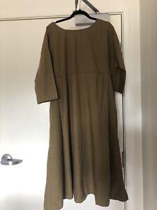 Yarra The Label Free Size Khaki Shift Dress
