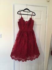 Coast Red Lace Dress Size 12