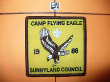 1988 Camp Flying Eagle Patch,pp,Sunny Land Council,BSA,BRN,OA 219,552,Florida,FL
