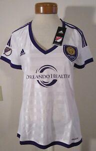 NWT Adidas Orlando City SC Womens Replica Secondary Jersey M White MSRP$75