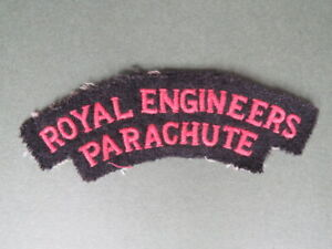 Great Britain Royal Engineers Parachute WW2 Shoulder Title