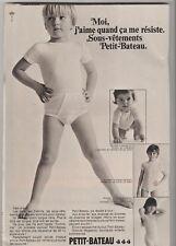 Publicité de presse Sous-Vêtements enfants Petit-Bateau French Press Ad 1969