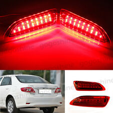 2x For Toyota Corolla Lexus CT200h 2011-13 Rear Bumper Reflector LED Brake Light