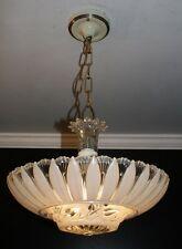 Antique cream beige glass sunflower art deco light fixture ceiling chandelier
