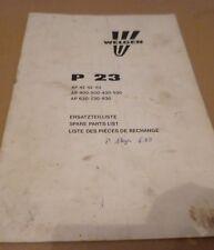 Welger Ballenwerfer P23 Ersatzteilliste
