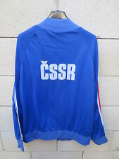 VINTAGE Veste ADIDAS CSSR Czechoslovakia Euro 1980 Ventex tracktop jacket 186 XL