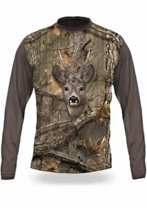 Roe Deer 3D T-Shirt Long Sleeve Langarm Shirt Rehbock