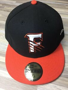 New Era Size 7 7/8 Fresno Grizzlies Orange/Black Home Hat Fitted Nationals AAA