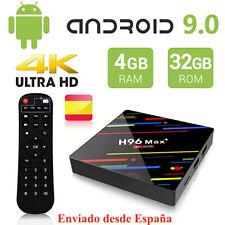 H96 Max Plus Android 9.0 4GB 32GB Tv Box RK3328 2.4G Wifi BT4.0 1080P Caja de TV