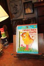 Fisher-Price Talk-To-Me Book Sesame Street Big Bird i Wish I Had A Giraffe 1979