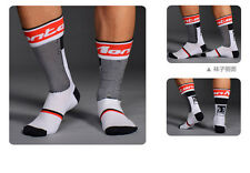 New White Bicycle Socks Bike Cycling Calf Sock Footwear One Size