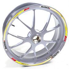 ESES Pegatina llanta Honda plata CBF 500 CBF500 I Amarillo Rojo adhesivo cintas