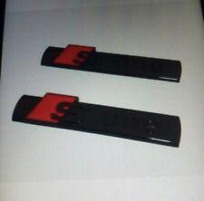 2x S-Line Emblem Schwarz für alle Audi A1 A3 A4 A5 A6 A7 A8 Q1 Q2 Q5 Q7 Q8 Glaz