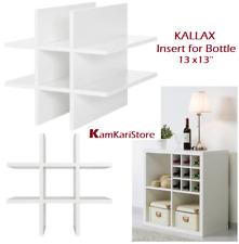 "IKEA KALLAX Shelf Unit Insert for Wine Bottles, White 13x13 "", 804.012.92 New"