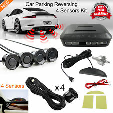 Rear Car Parking 4 Sensors Reversing Kit + LED Display + Audio Buzzer Alarm UK