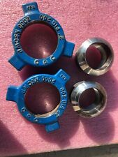"""Lot: C&C Hammer Union 2"""" Fig 200 Threaded, Some Rust, Nut & Male Sub Only"""