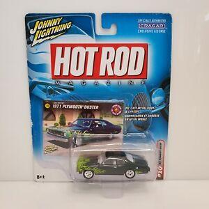 Rare Johnny Lightning Hot Rod 1971 Plymouth Duster White Lightning Chase Green