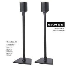 SANUS WSS22 Speaker Stand Floorstand SONOS ONE, PLAY:1 & PLAY:3 Black Pair NEW
