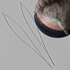 2 x  Ersatzschleifen für Bartperle Einfädelhilfe Edelstahl od. Aluminium Varinte