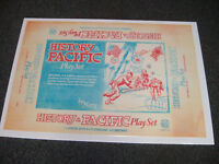 MARX HISTORY in the PACIFIC 4164  BOX ARTWORK THAT WAS NEVER PRODUCED FOR PRODUC