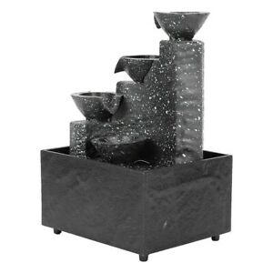 Garden Fountain Water Feature LED Lights Indoor Outdoor Statues Decor Ornament