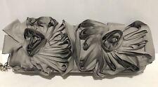Pochette in raso grigio  ANNA CECERE