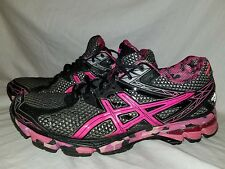 Asics GT-1000 Pink Ribbon Men's Running Shoes Black/Silver/Pink  T4L3N Sz 8.5