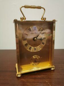 London Clock Co Quartz Gold Metal Mantle Freestanding Ornament Clock