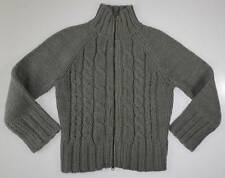 Abercrombie Kids Girl's size Large Gray Wool Blend Heavy Knit Cardigan