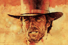 A4 stile vintage CLINT EASTWOOD poster (Blu-Ray DVD WESTERN Outlaw MOVIE FILM)