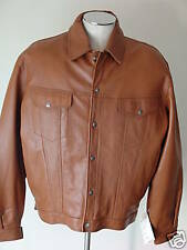 Power Source mens size 2X luggage short leather coat