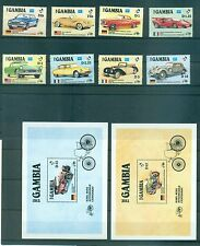 VOITURES CLASSIQUES - CLASSIC CARS GAMBIA 1986 Automobile Centenary set+blocks