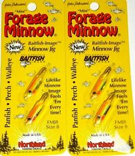 Northland Tackle #8 Live Forage Minnow Jigs (Lot of -2-Glo Chub)