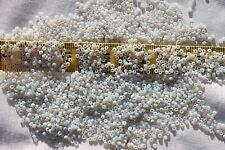 11/0 Old Time Glass Vintage French  Mixed Lt & Dk Alabaster /#A Seed Beads 1oz