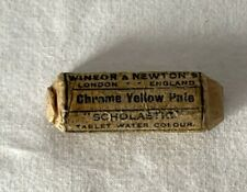 NOS Wrapped Windsor & Newton CHROME YELLOW PALE Scholastic Paint Tablet