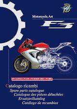 MV Agusta Parts Manual Book Catalog 2013 F3 675, F3 SERIE ORO & F3 800