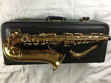 More details for vintage selmer model 26 rare gold lacquer alto sax saxophone with buescher case