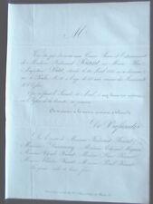 RIANT  PETIT  MIGNON DUSSAUSSOY 1865 faire part deces genealogie