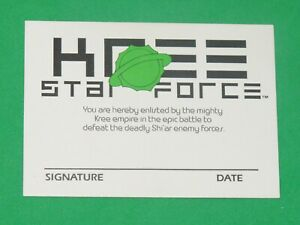 1991 KREE STAR FORCE member ID PROMO CARD MARVEL Checklist GALACTIC STORM SHI'AR