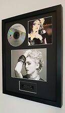 Madonna-Framed Original The First Album CD-Certificate-Metal Plaque