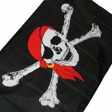 Flying wave 3x5 Feet Super-Poly Indoor/Outdoor Red scarf pirate FLAG Banner