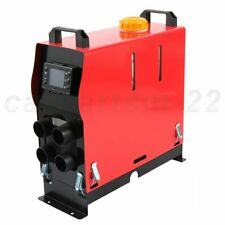 5000W 12V Diesel Air Heater 4 Holes LCD Monitor for Bus Truck Car Red & Black