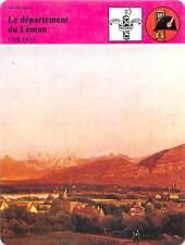 FICHE CARD le Département du Léman Genève & le Mont-Blanc Suisse Napoléon 90s