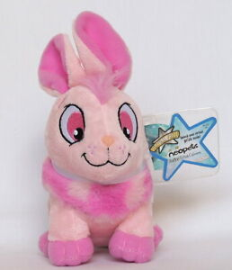 NEW Neopets Pink Cybunny - Series 2 With KeyQuest Virtual Prize