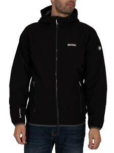 Regatta Men's Arec II Hooded Softshell Jacket, Black