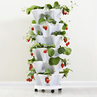 Stack-up Type Flowerpot Strawberry Plant Pot Flower Vegetables Decor KK
